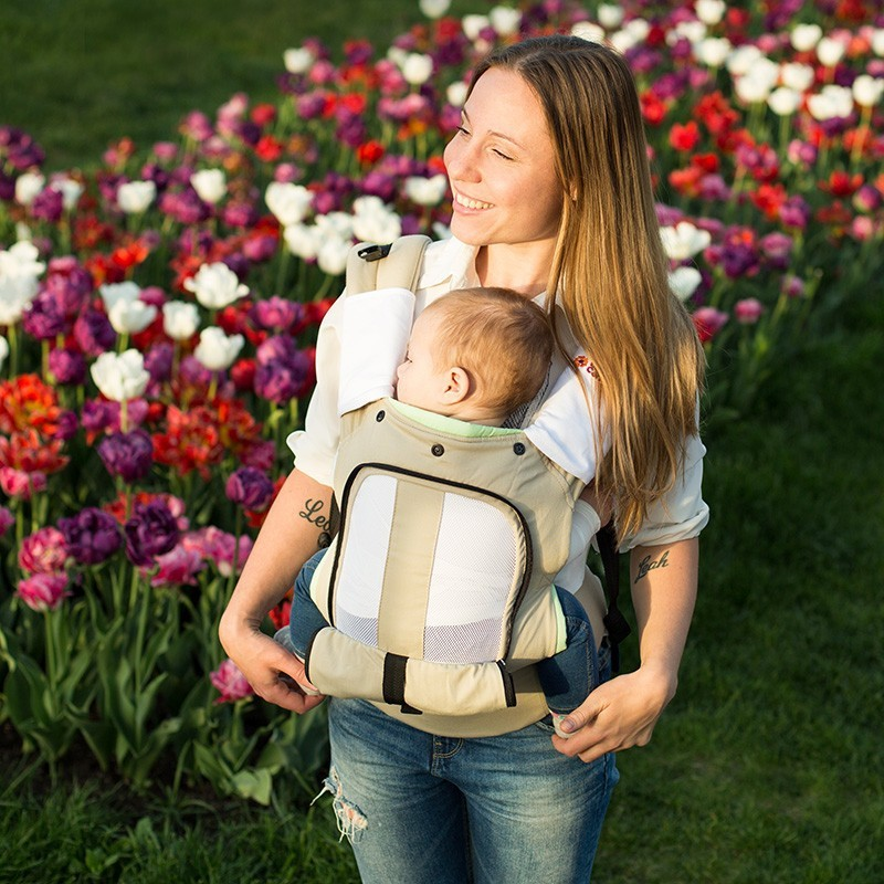 Porte b b physiologique air love carry mamawear for Porte bebe love and carry